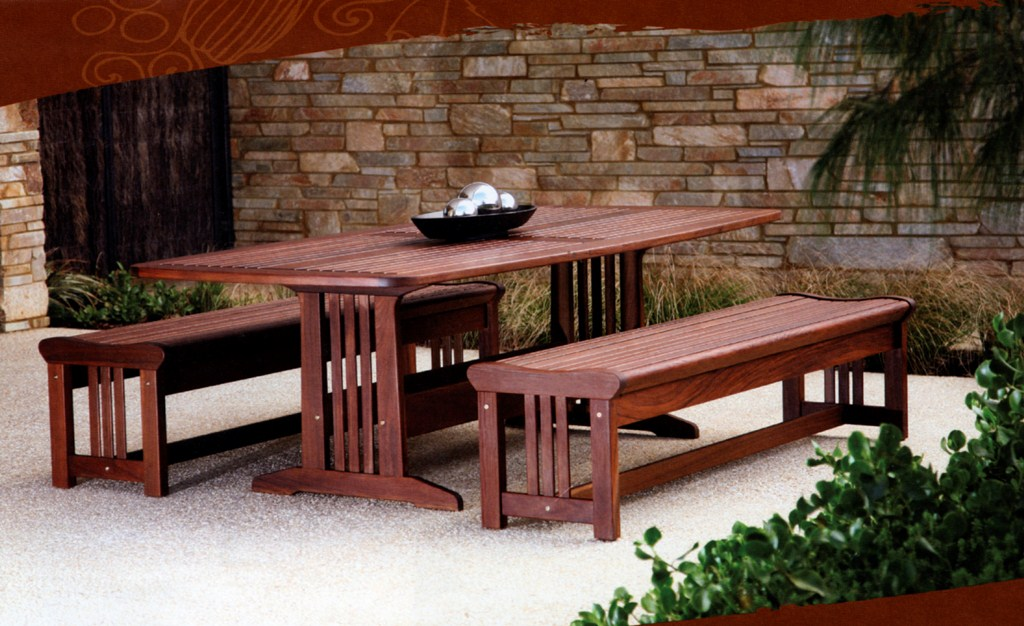 Outdoor Bench Patio Set