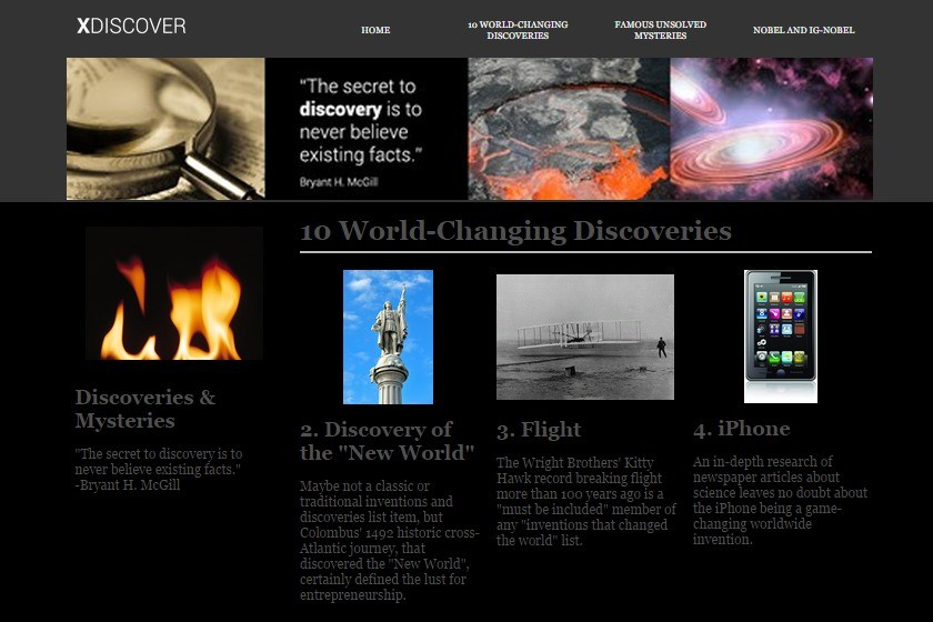 10 world changing discoveries