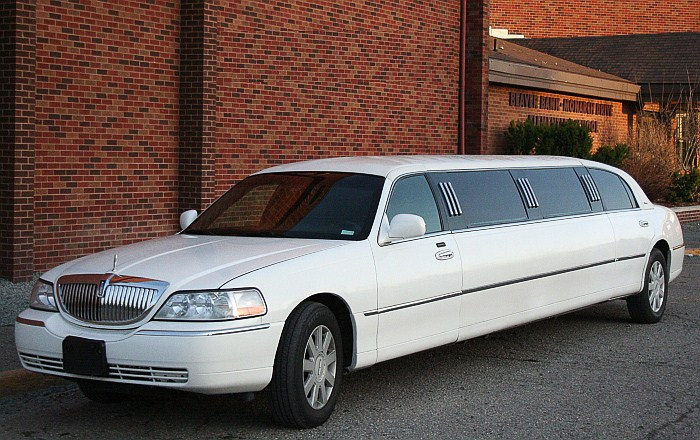 White Town Car Limo